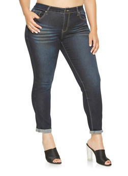 Plus Size VIP Push Up Skinny Jeans - 3870065300068