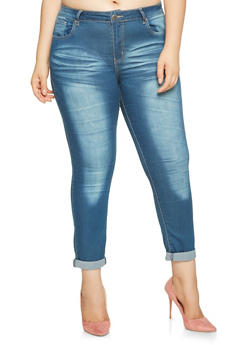 Plus Size VIP Push Up Skinny Jeans - 3870065300295