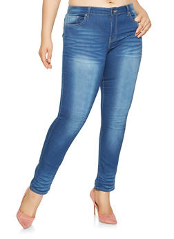 Plus Size VIP Push Up Skinny Jeans - 3870065300583