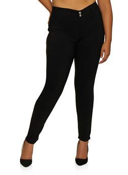 Plus Size VIP Black Skinny Jeans - 3870065301944