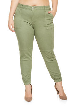 Plus Size Push Up Joggers - 3870065302954