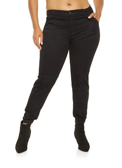 Plus Size VIP Denim Joggers - 3870065302957