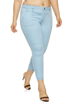 Plus Size VIP Push Up Denim Joggers - 3870065309532