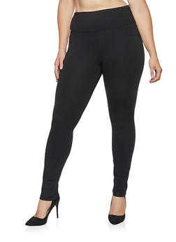 Plus Size Push Up Ponte Pants - 3870068199869