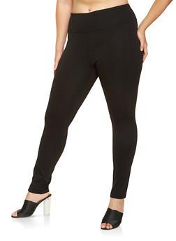 Plus Size Ponte Pants - 3870068199877