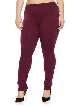 Plus Size Ponte Pants - 3870068199877