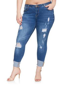 f917e70b293 Plus Size WAX Push Up Skinny Jeans - 3870071610122