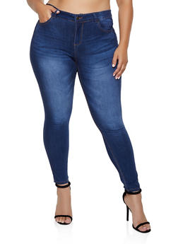 Plus Size WAX Whiskered Wash Jeans - 3870071610142