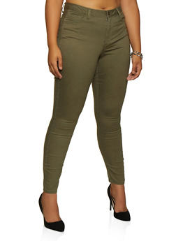 Plus Size Skinny Push Up Pants - 3870071610168