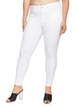 Plus Size WAX Push Up Skinny Jeans - 3870071610210