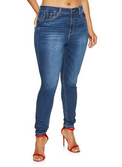 Plus Size WAX Push Up Skinny Jeans - 3870071610500