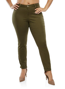 Plus Size WAX Colored Jeans - 3870071610945