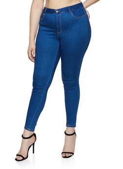 Plus Size WAX Push Up Skinny Jeans - 3870071612222