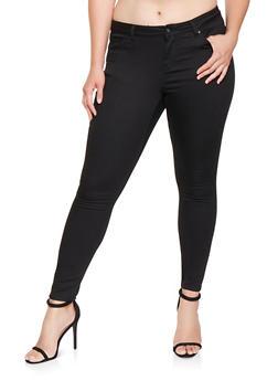 Plus Size Colored Push Up Pants - 3870071613101