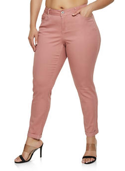wholesale online coupon codes official price Plus Size Pink Pants | Rainbow