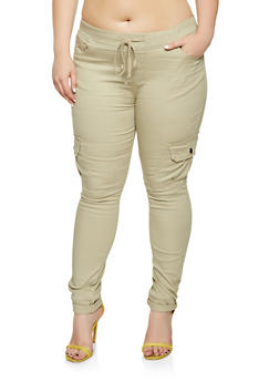 Plus Size Cargo Jeggings - 3870072290027