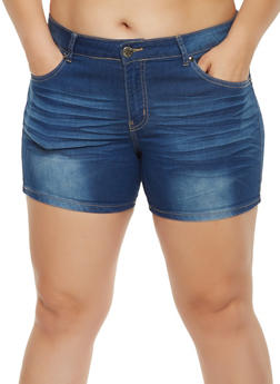 Plus Size VIP Push Up Denim Shorts - 3871065300582