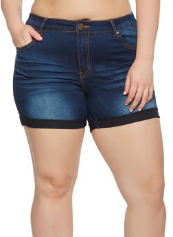 Plus Size VIP Push Up Jean Shorts - 3871065300837