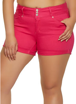 Womens Plus Size Pink Shorts