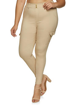 Plus Size Cargo Jeggings - 3874063403519