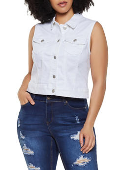 Plus Size WAX Jean Vest - 3876071610001