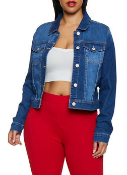 Plus Size WAX Denim Jacket | 3876071610017 - 3876071610017