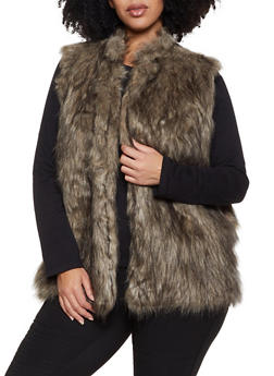 Plus Size Faux Fur Vest | 3884038340107 - 3884038340107