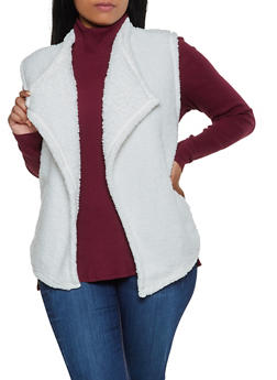 Plus Size Sherpa Vest - 3884038344558