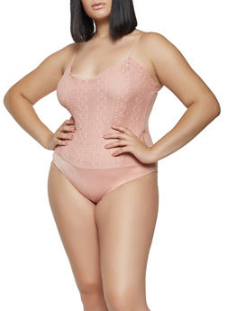 Plus Size Lace Bodysuit - 3911054265873