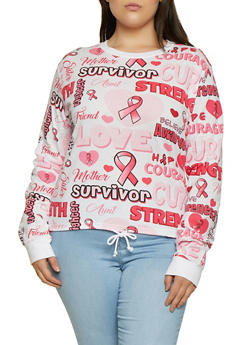 Plus Size Breast Cancer Survivor Tee - 3912033870670