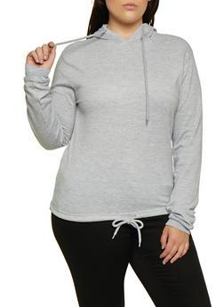 Plus Size Fleece Lined Pullover Sweatshirt - 3912033875666