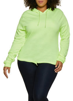 Plus Size Fleece Lined Pullover Sweatshirt - 3912033875666