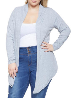 Plus Size Lightweight Cardigan - 3912038343150