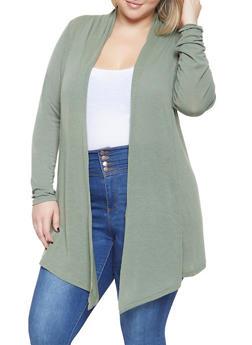 Plus Size Lightweight Cardigan - 3912038343150
