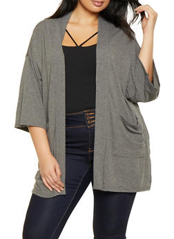 Plus Size Lightweight Cardigan - 3912038343166