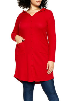 Plus Size Thermal Duster - 3912038344201