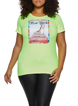 Plus Size New York Shoe Patch Tee - 3912043398676