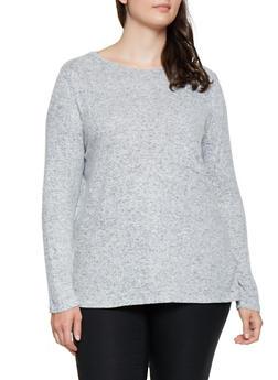 Plus Size Lightweight Long Sleeve Sweater - 3912054260550