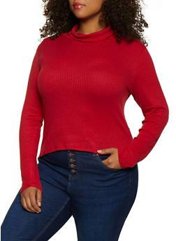 Plus Size Rib Knit Turtleneck | 3912054261710 - 3912054261710