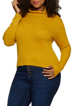 Plus Size Rib Knit Turtleneck | 3912054261710 - 3912054261710