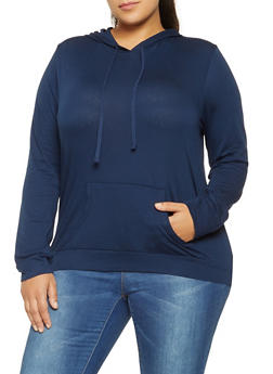 Plus Size Hooded Top - 3912054269951