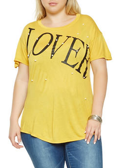 Plus Size Lover Graphic Tee - 3912058750732