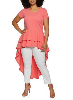 Plus Size Tiered High Low Top - 3912074015844