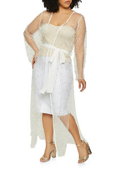 Plus Size Studded Mesh Duster | 3912074280024 - 3912074280024