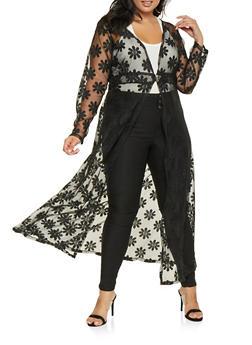 Plus Size Lace Maxi Top - 3912074280046