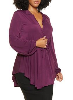 Plus Size Ruffled Overlay Bodysuit - 3912074280915