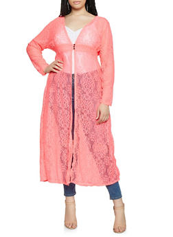 Plus Size Flower Lace Maxi Top - 3912074282237