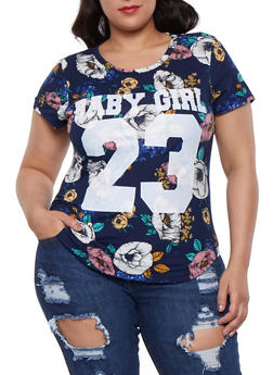Plus Size Baby Girl Graphic Tee - 3912074285907