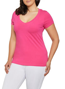 330dc2fdc0625d Plus Size V Neck Tee | 3915054260066 - 3915054260066