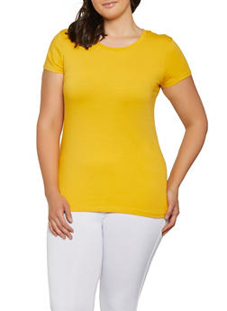 Plus Size Basic Crew Neck Tee | 3915054266400 - 3915054266400